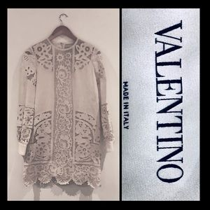 VALENTINO Linen Embroidery Mini Dress 4